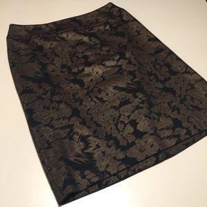 Halogen Skirt 4 Petite Goldtone